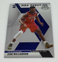 2019-20 Mosaic Zion Williamson Rc Rookie NBA Debut Pelicans #269