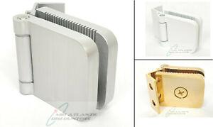 """Glass Shower Door Hinge Jamb Aluminum Wall Mount 1.5"""" for 1/4"""" 6mm Glass"""