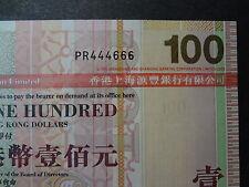 HONG KONG 2008 HSBC 100 DOLLARS, FANCY REPEATER NUMBER PR 444666, ULTRA GEM UNC