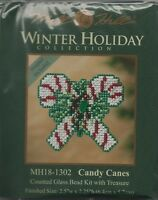 Christmas Candy Canes Glass Bead Kit & Treasure by Mill Hill w/ Magnet