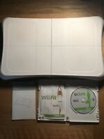Nintendo Wii Fit Balance Board RVL-021, Manual & Wii Fit Complete Game Bundle
