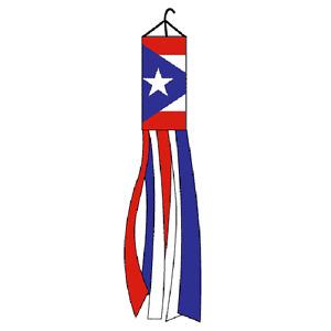 "60"" Puerto Rico Rican Nylon Wind Sock Windsock"