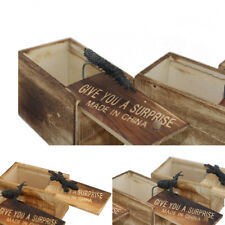 SPIDER Wooden Prank Scare Box Practical Shock Funny Practical Joke Party Kid Toy