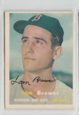 Tom Brewer 1957 Topps autographed auto signed card Red Sox