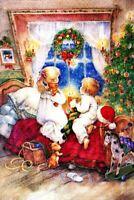 Waiting for Santa by Lisi Martin Russian modern Postcard / Postcrossing Открытки
