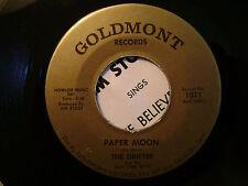 GOLDMONT 45 RECORD/JIM STOUT/DRIFTER BLUE STEEL BOYS/PAPER MOON/MAKE BELIEVE/PS