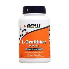 NOW L-Ornithine 500 mg120 Veg Capsules 120 Free Shipping