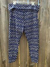 LUCKY BRAND Lucky Lotus Women's Size L Sweat Lounge Pants NWT $59.50 Blue Print