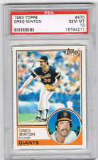 "1983 TOPPS #470 GREG ""MOON MAN"" MINTON *PSA 10* *GIANTS ALL-STAR *150 SAVES"