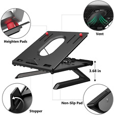 MiiKARE Laptop Stand Riser 8-Adjustable Height Laptop Stand Holder with Built-in