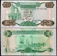 LIBYA 1/4 DINARS ND 1984 P 47 UNC