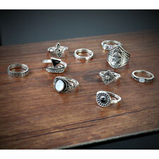 10pcs Silver/Gold Boho Stack Above Knuckle Ring Midi Finger Tip Band Rings Set