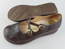 DANSKO Brown Leather Mary Jane Wedge Shoes Women's US 7.5-8  EU 38