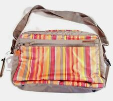 Hedgren Baby Bag New With Tags Messenger Satchel Travel Luggage Striped NWT