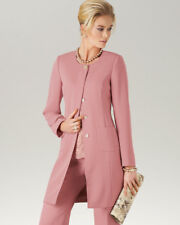 Artigiano ELEGANTE Fine Crepe Powder Pink Long Jacket Size 22