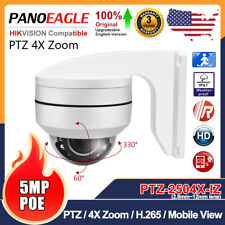 Hikvision Compatible Ultra HD 5MP PTZ 4X Zoom Security IP Camera Outdoor Onvif