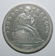 1871 SEATED LIBERTY SEATED DOLLAR  B55