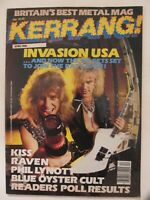 KERRANG! Magazine April 1986 Issue With DIO Pull Out Poster Feature VG+ Grading