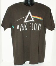 PINK FLOYD NAME ROCK BAND GROUP LOGO - MEN LARGE OR FITS WOMEN BROWN SHIRT