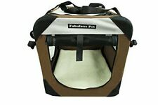 """36""""Fabulous Pet 3-Door Folding Soft Crate, Indoor & Outdoor Pet Home Coffee"""
