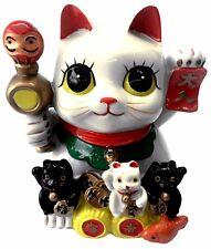 Maneki Neko Lucky Cat Coin Bank Decor for Wealth