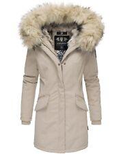 Navahoo Premium Damen Winterjacke Parka Mantel Jacke Kunstfell Gefüttert Cristal