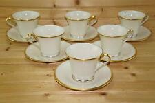 "Lenox Eternal Ivory (6) Cups, 3"" & (6) Saucers, 6""  (Box #7)"