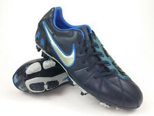 Nike Mens Rare Total90 Shoot lll L-FG 385401-404 Black Blue Soccer Cleats Size 8
