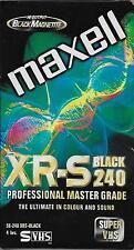 Maxell XR-S Black 240 min video cassette