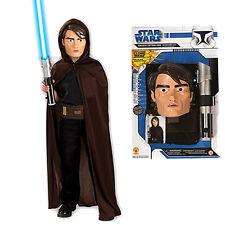 Star Wars Anakin Boy Costume Kit Extendable Light Saber Cloak Mask Belt Box