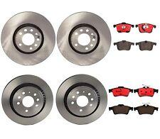 Front 314mm & Rear 292mm Brake Kit Disc Rotors Ceramic Pads Brembo For Saab 9-3