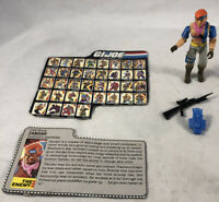 GI Joe 1986 Zandar Action Figure 100% Complete W/File Card Hasbro ARAH  #1