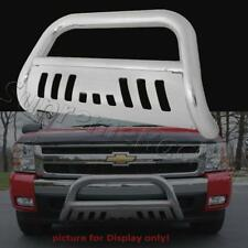 CHROME FRONT BULL BAR W/SKID PLATE FOR 2014-2016 SILVERADO 1500/ GMC SIERRA 1500