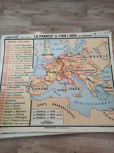 Carte Historique La France De 1789 à 1815 Par P. Briard
