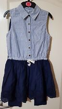 M&S 2 Pieces Pure Cotton Collared Neck Dress With Legging (9-10years)