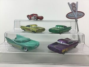 Cars 1 Original Diecast Ramone Paint Jobs McQueen and Flo w Sign 6pc Lot Disney