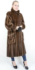 US2062 MODERN MINK FUR COAT FEMALE SKINS SIZE L DEMI BUFF - NERZMANTEL