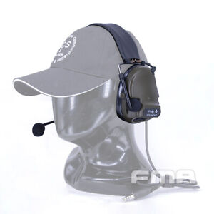 FMA FCS Tactical Headset COMTAC3 Headset Communication Pickup Airsoft Paintball