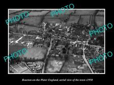 OLD LARGE HISTORIC PHOTO OF BOURTON ON THE WATER ENGLAND VIEW OF THE TOWN 1950 4