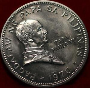 Uncirculated 1970 Philippines 1 Piso Silver Foreign Coin