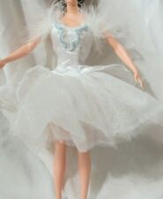 Barbie as Swan Queen Classic Ballet Series Swan Lake White Tutu with Blue Beads