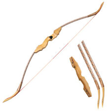 50lbs Archery Takedown Recurve Bow Longbow Wood Riser Right Hand Shooting Target