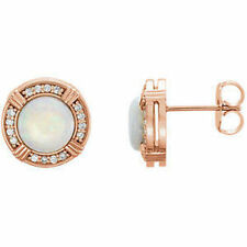 OPALE & 1/6 CTW Orecchini di diamanti in 14k oro rosa