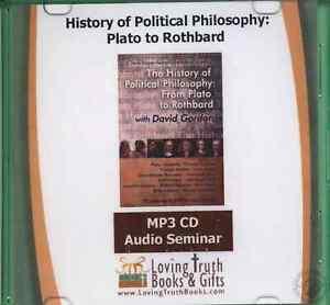 History of Political Philosophy: Plato to Rothbard MP3 CD Audiobook David Gordon
