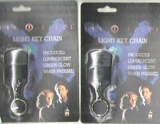 "2 NON WORKING 1996 X FILES KEYCHAINS ""THE X FILES"" & ""TRUST NO ONE"" MOC"