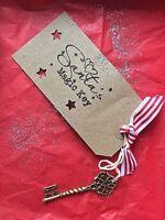 Santa KEY Christmas Eve A5  NICE CERTIFICATE COIN wish KEY Presentation BOX