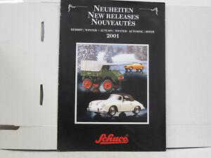 Schuco Faltkatalog, Neuheiten Herbst/Winter 2001, deutsch, 8 Seiten