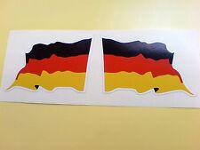 Alemana Alemania Wavey Bandera Casco De Motocicleta Coche Stickers Calcomanías 2 Off 60mm