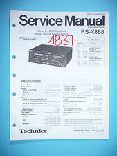 Service MANUAL PER TECHNICS rs-x888 cassette deck, ORIGINALE