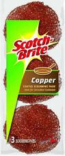 3M Scotch-Brite, 3 Pack, Copper Coated Scouring Pad 213C